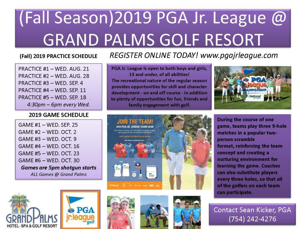 2019 PGA Jr. League – Starts Aug. 21st 2019